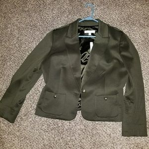 New York and Company Military Green Blazer